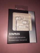 staples earbuds with microphone New - $11.64