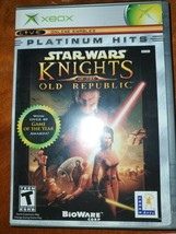 Star Wars: Knights of the Old Republic (Microsoft Xbox, 2003) Platinum H... - $14.50