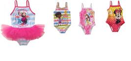 Disney Toddler Girls 1 Pc Swimsuits Frozen Doc Princess Minnie Various S... - $11.04