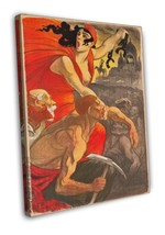French Propaganda Poster 1900 Vintage Movie FRAMED CANVAS Print  - $19.95+