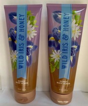 Bath And Body Works WILD IRIS & HONEY Scrub Lot X2 - $32.62