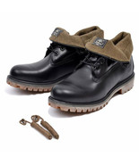 """TIMBERLAND MENS BLACK QUARTZ COLLECTION LIMITED RELEASE ICON 6"""" ROLLTOPS... - $82.49"""