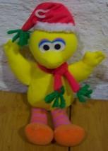 "Mattel Sesame Street CHRISTMAS BIG BIRD 9"" Plush STUFFED ANIMAL Toy - $15.35"