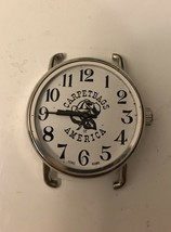 Vintage 1970's Carpetbags of America Large Round Watch Mechanical/ Part ... - $14.03