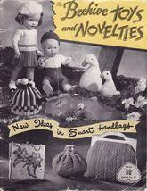 Vintage Crochet Knit Toys Novelties Doll Clothes Bags Tea Cozy Afghan Patterns - $14.99