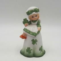 Vintage Lefton St.Patrick's Giorno Trifoglio Irlandese Porcellana Bell Irlanda - $49.83
