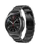 Samsung Gear S3 Frontier Black Steel Watch Band XL/Large Stainless 46mm ... - $22.99