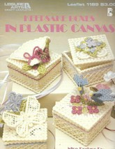 Keepsake Boxes in Plastic Canvas Leisure Arts 1189 9 Designs on 7 mesh C... - $4.99