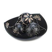 Accent Plus Decor Ball Bowl Set, Black Mdf Wood Decorative Balls Set Of 3 For Of - $26.99
