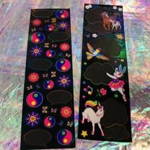 HTF Sticker Sheets Lisa Frank Dream Writers Yin Yang Unicorn 1isCOMPLETE &MINT-y image 1