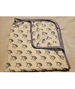 Monica + Andy Baby Coming Home Blanket Little Magic Unicorns Purple White  - $19.78