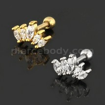Cartilage Helix Tragus Piercing Square Cutout Flower Ear Stud - $6.39