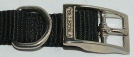 Valhoma 720 12 BK Dog Collar Black Single Layer Nylon 12 inches Package 1 image 3
