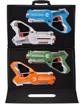 Dynasty Toys Laser Tag Set and Carrying Case for Kids Multiplayer 4 Pack - $122.97