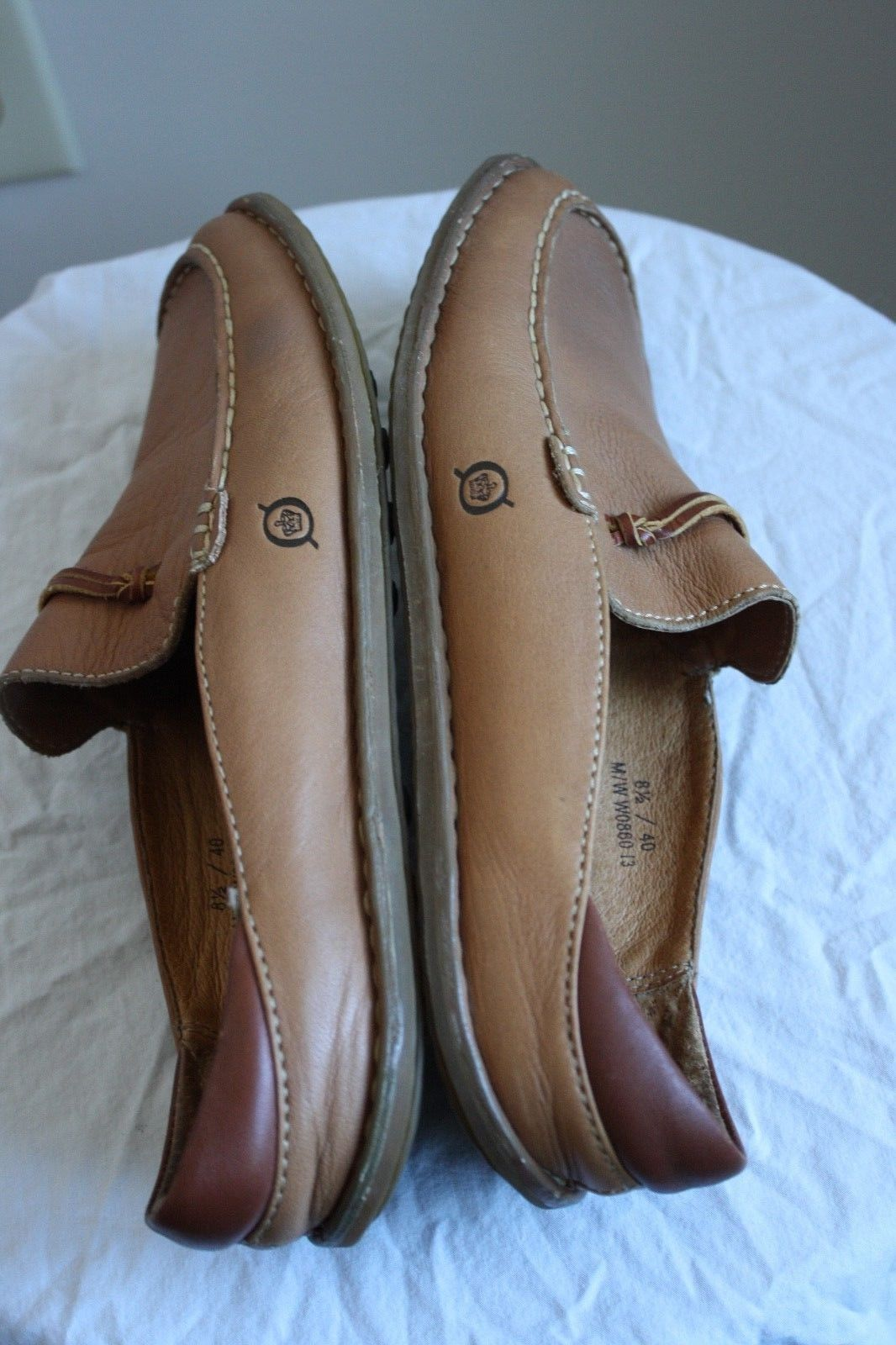 Born Concept 8.5 40 Brown Leather Slip On Loafers Mules Slides Flats