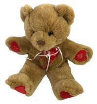 "First & Main Messengers Valentines Bear 14"" Plush Brown Luv Ya Be Mine H... - $24.56"
