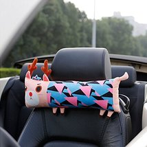 Cute Cartoon Animals Series [Color Elk] Car Headrest/Car Neck Pillow