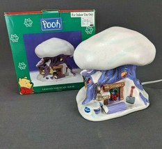Disney Winnie The Pooh Mr Sanders Lighted Porcelain House Christmas Village - $19.30