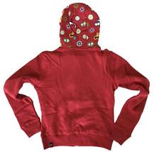 UGP Süßigkeiten Damen Gekürzt Kastanienbraun Rot Fruchtig Lecker Zip Kapuze Nwt image 2