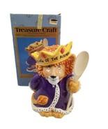 Vintage Treasure Craft Cookie Jar King of the Kitchen Lion 013-080 - $59.39