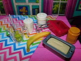 Our Generation Banana Bread Baking Accessories Lot Snack fits American Girl Doll - $18.80