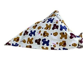 PANDA SUPERSTORE 2 Pieces of Fashionable Cute Pets Triangle Scarves/Headscarf, D
