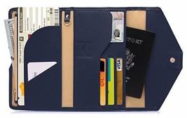 Zoppen Multi-purpose Rfid Blocking Travel Passport Wallet Tri-fold Navy ... - $17.59