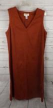 Talbots Moleskin Shift Dress Size 12P Rust - $18.99