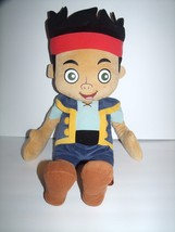 "Disney Jake and Neverland Pirates Plush Doll 27"" Blue Outfit Black Hair ... - $19.59"
