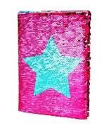 Maxdot Reversible Sequins Notebook Double Sided Flip Sequin Notebook Jou... - $20.46