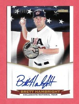 2012 Brett Hambright Panini USA Baseball Rookie Auto 095/399 - $2.84