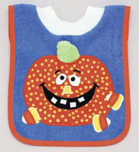 Pullover Bib & Removable Washcloth-Pumpkin Candy - $12.00