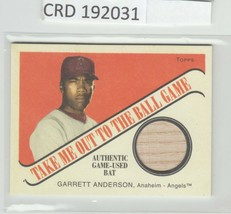 2004 Topps Game Used Bat Cracker Jack * Garrett Anderson * TB-GA 192031 - $1.97