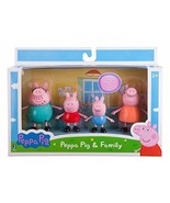 Peppa Pig Family Set of 4 Pack Playset Figures Daddy Mummy George Toys G... - $25.57