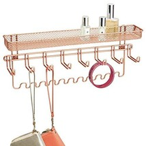 mDesign Decorative Metal Closet Wall Mount Jewelry Accessory (Rose Gold) - $22.94