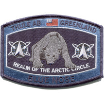 """4.5 """" Blue Nose Polar Bear Thule Air Force Base Greenland Embroidered Patch - $17.09"""