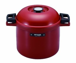 TIGER NFH-G450 Non-Electric Thermal Slow Cooker 4.75qts / 4.5L, Red - €143,66 EUR