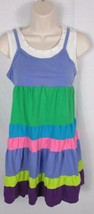 Girl's The Children's Place multi color pastel rainbow striped Sun Dress 14 - $9.89