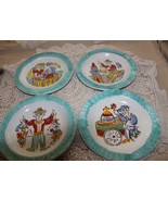 """Giovanni Desimone Italy 4 Different Plates 10"""" Wine Makers Oyster Seller... - $225.00"""