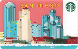 Starbucks 2014 San Diego, California Skyline Collectible Gift Card New N... - $6.99
