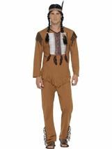 Nativo Americano/Indio Guerrero Disfraz,Mediano,Disfraz Adulto,Hombre - $26.12