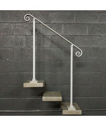 4 Foot Handrail Railing for Stairs | Base Plate Surface Mount | Metal Ha... - $150.00