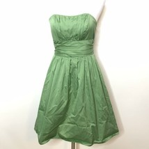 David's Bridal Strapless Dress Sz 2 Green Zipper In Back Bridesmaid Prom... - $64.35