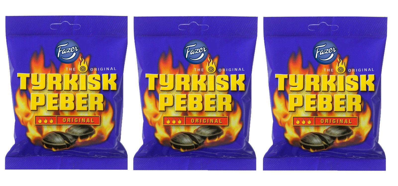 Primary image for TYRKISK PEBER (Turkish Pepper) candy x 3 bags 150g FAZER Finland *BEST VALUE