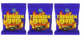 Tyrkisk Peber (Turkish Pepper) Candy X 3 Bags 150g Fazer Finland *Best Value - $8.81