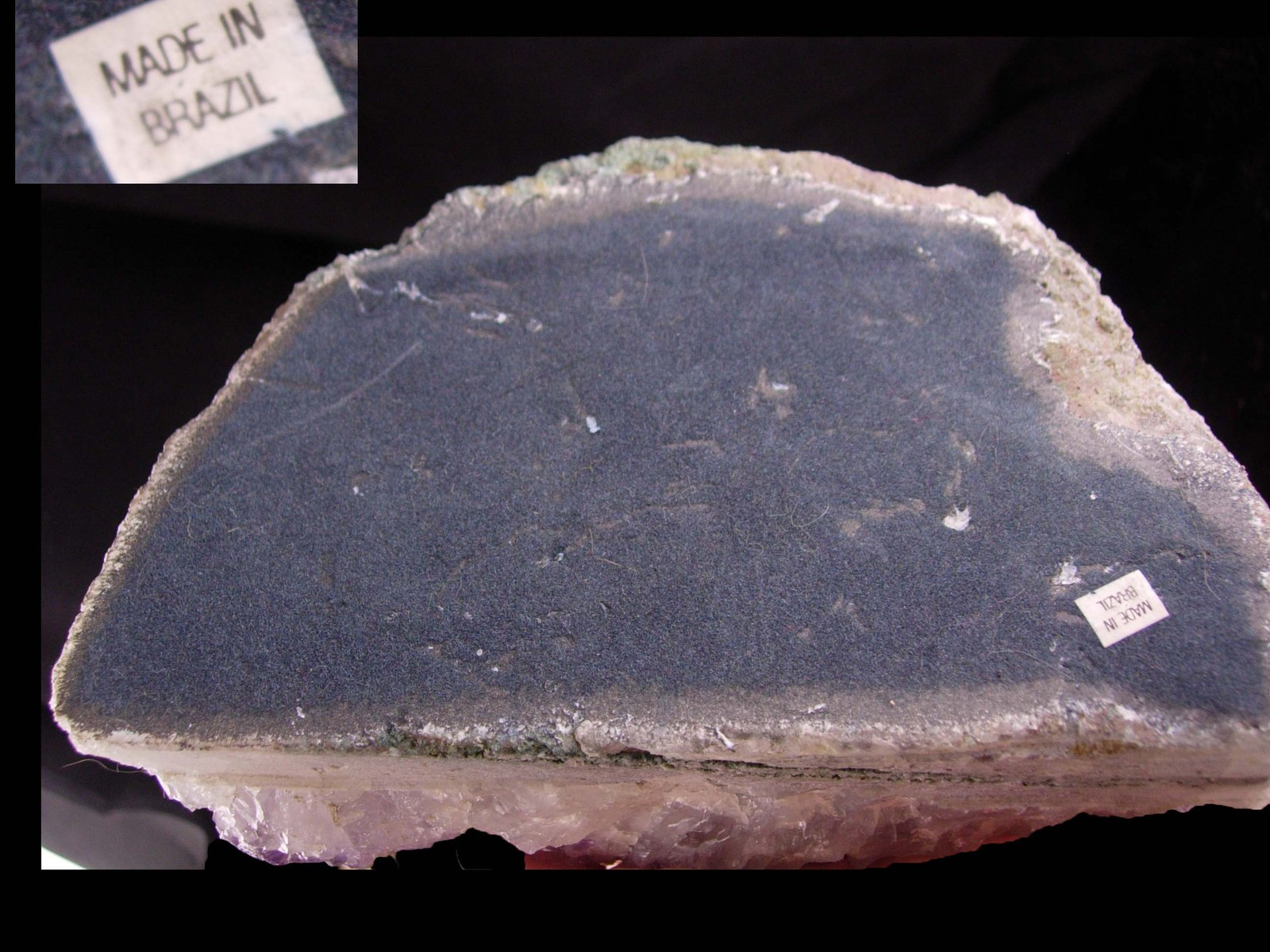 Large Brazil Amethyst Candle holder - february birthstone Aquarius gift - purple