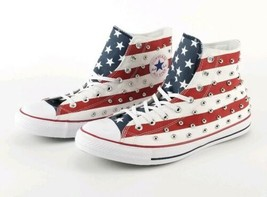 Converse Men All Star Chuck Taylor High Tops Sneakers Rare Stud American... - $85.49