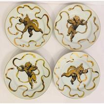 Gold Gilt Cherub Themed Neiman Marcus Fine China Porcelain Plates Angel ... - $43.56