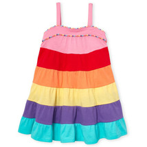 NWT The Childrens Place Girls Over The Rainbow Tiered Sleeveless Dress 2... - $10.99