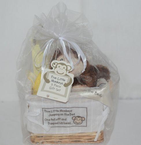 Baby Aspen Five Little Monkeys 5 Piece Gift Set BA11013NA